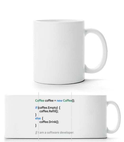 Coffee Loop - Panorama Mug - White - Front