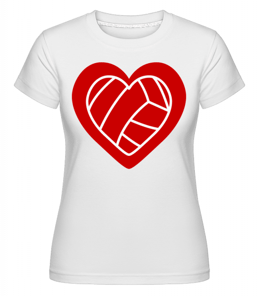 Volleyball Amour -  T-shirt Shirtinator femme - Blanc - Devant