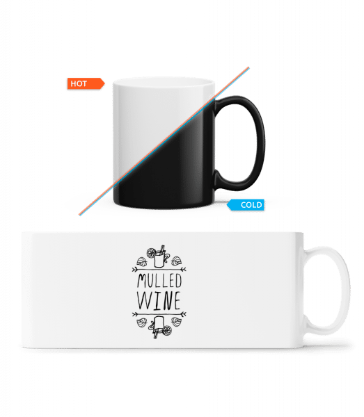 Mulled Wine Sign - Magic Mug - White - Front