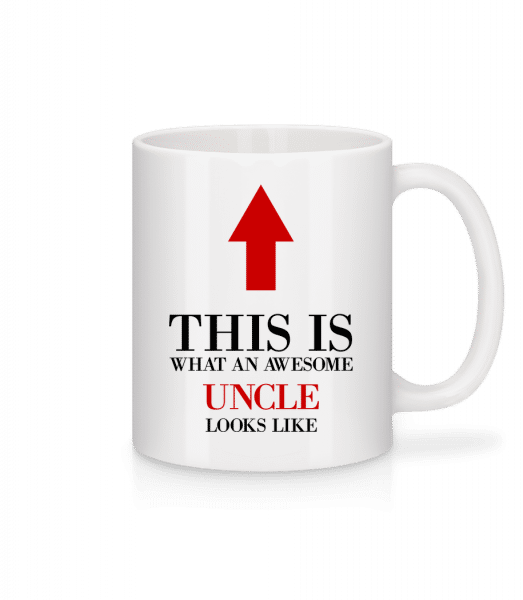 Awesome Uncle - Mug en céramique blanc - Blanc - Devant