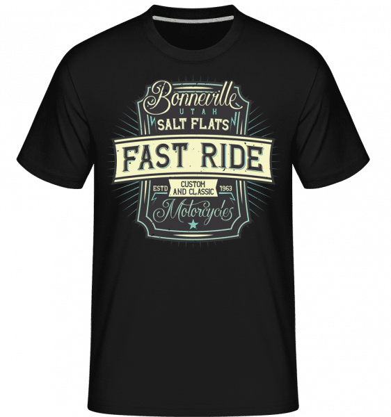 Fast Ride -  Shirtinator Men's T-Shirt - Black - Front