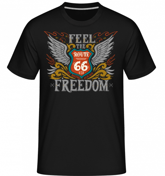 Feel the Freedom - Shirtinator Männer T-Shirt - Schwarz - Vorn