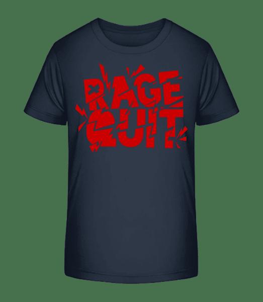 Rage Quit Gamer - Kid's Premium Bio T-Shirt - Navy - Vorn