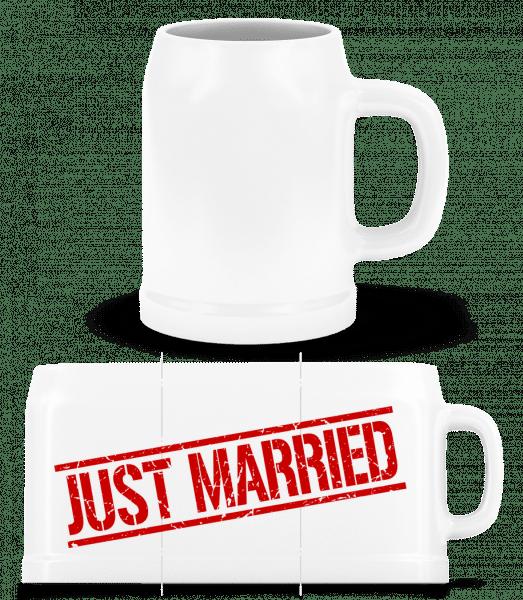 Just Married - Beer Mug - White - Vorn