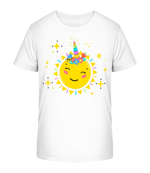 Happy Sun - Kid's Premium Bio T-Shirt - White - Vorn