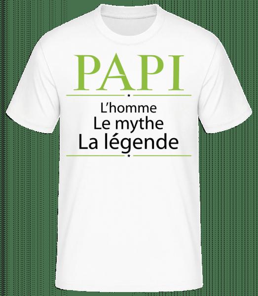 Papi L'homme La Légende - T-shirt standard Homme - Blanc - Vorn