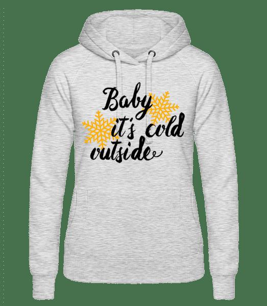 Baby It's Cold Outside - dámska mikina - Melírovo šedá - Predné