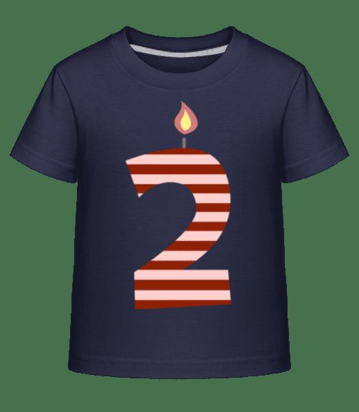 Birthday Candle - Kid's Shirtinator T-Shirt - Navy - Front