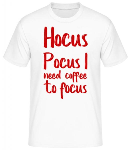 Hocus Pocus I Need Coffee To Focu - Men's Basic T-Shirt - White - Front