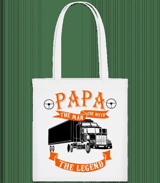 Papa The Legend - Stoffbeutel - Weiß - Vorn