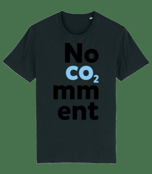 No Comment - Männer Premium Bio T-Shirt Stanley Stella - Schwarz - Vorn