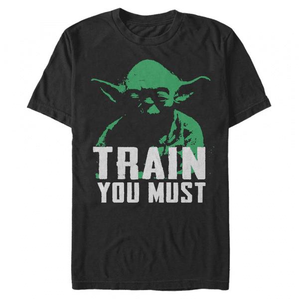 Lift You Must Yoda - Star Wars - Men's T-Shirt - Black - Front