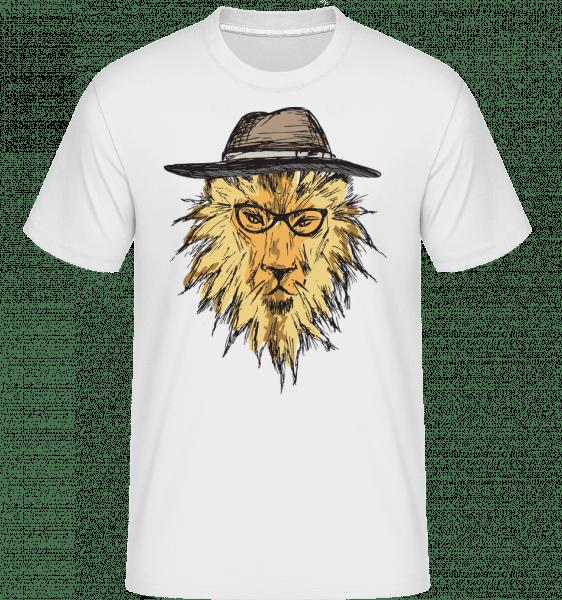 Lion With Hat -  Shirtinator Men's T-Shirt - White - Vorn