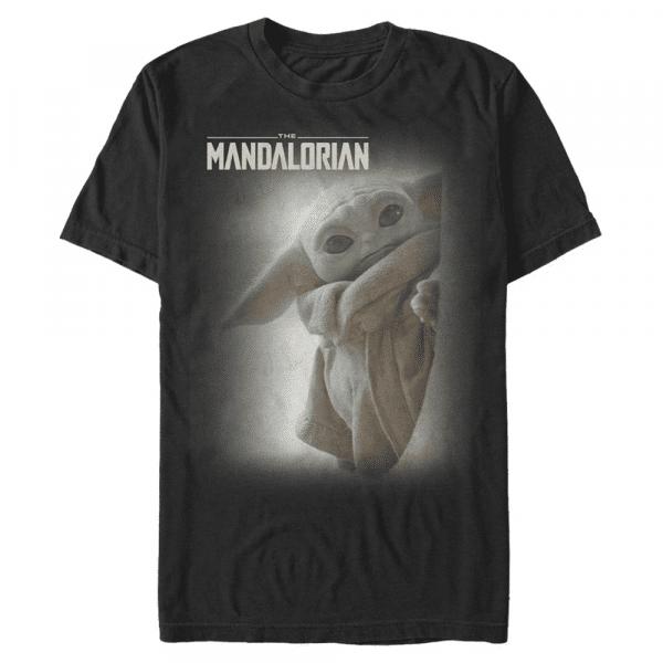 MandoMon Epi Child The Child - Star Wars Mandalorian - Men's T-Shirt - Black - Front