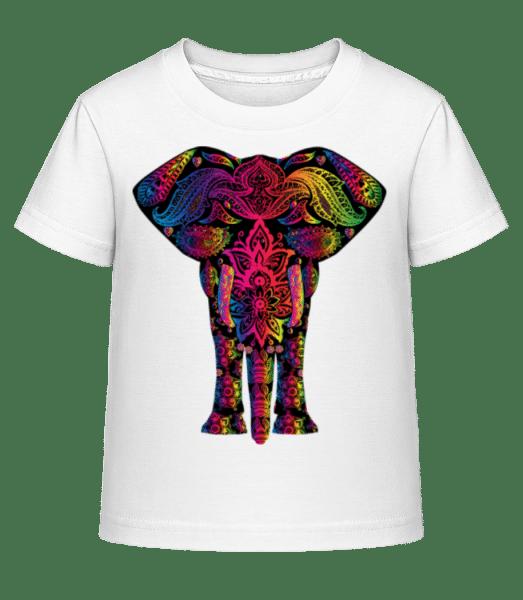 Bunter Elefant - Kinder Shirtinator T-Shirt - Weiß - Vorn