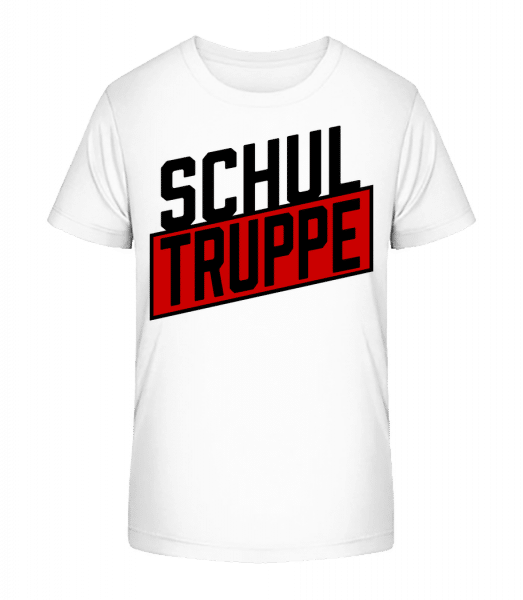 Schul Truppe - Kinder Premium Bio T-Shirt - Weiß - Vorn