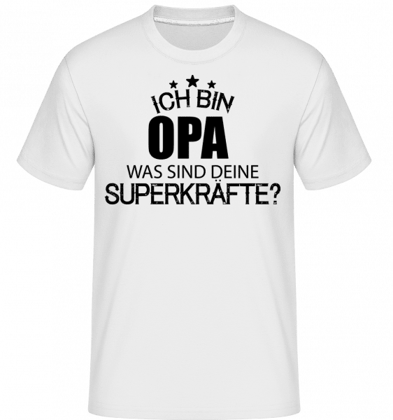 Superkraft Opa - Shirtinator Männer T-Shirt - Weiß - Vorn