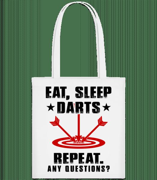 Eat Sleep Darts Repeat - Stoffbeutel - Weiß - Vorn