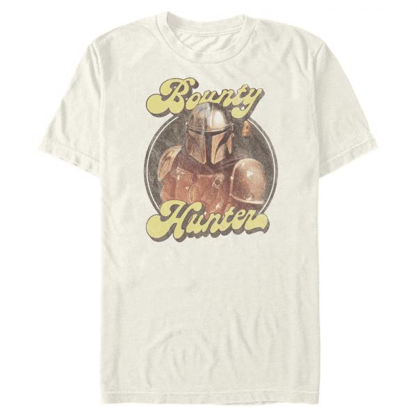 Bounty Retro Bounty Hunter - Star Wars Mandalorian - Men's T-Shirt - Cream - Front