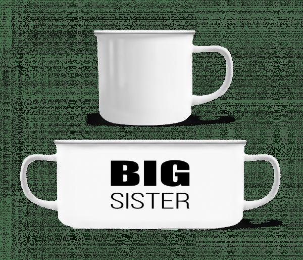 Big Sister - Emaille-Tasse - Weiß - Vorn