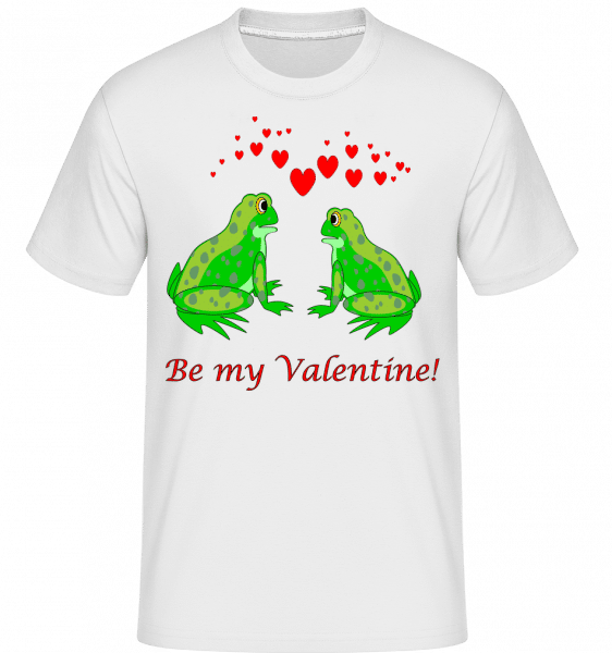Frogs Be My Valentine -  Shirtinator Men's T-Shirt - White - Vorn
