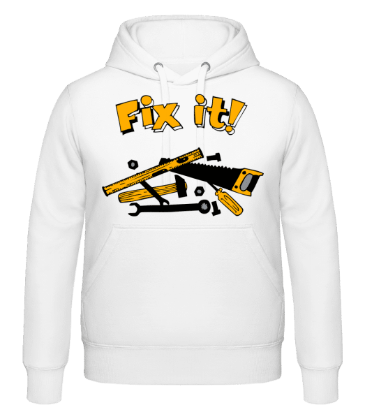 Fix It Symbol - Hoodie - White - Vorn