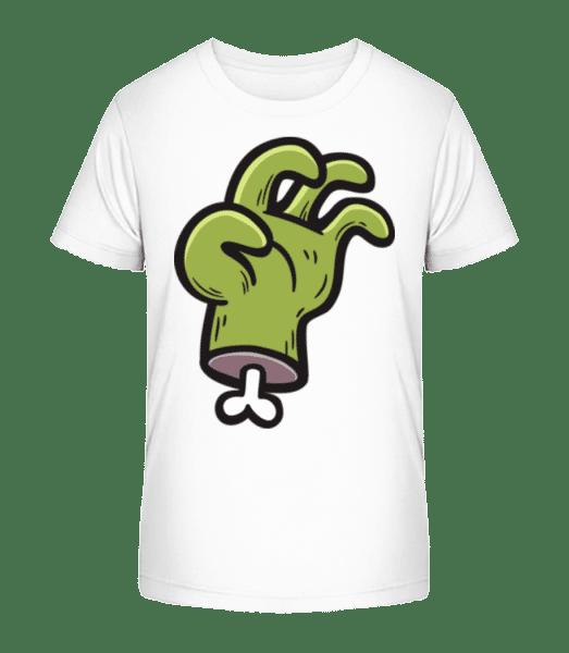 Zombie Hand - Kinder Premium Bio T-Shirt - Weiß - Vorn