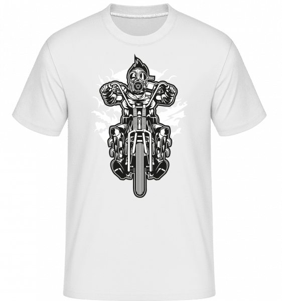 Gasmask Chopper -  Shirtinator Men's T-Shirt - White - Vorn