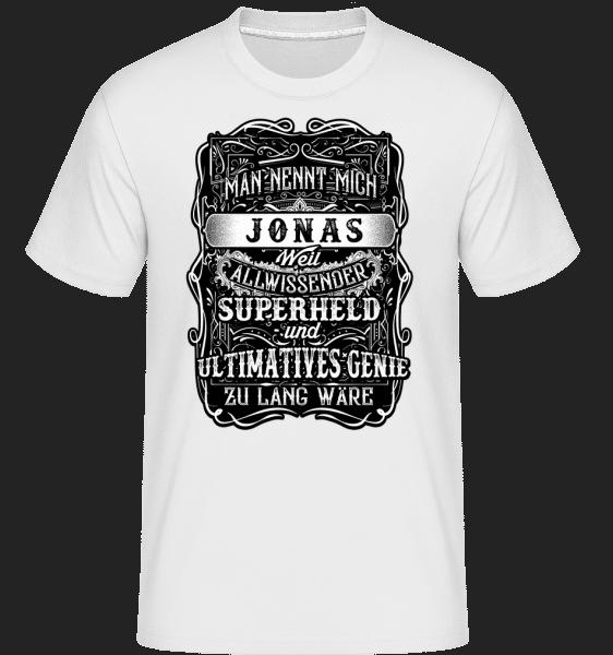 Man Nennt Mich Jonas - Shirtinator Männer T-Shirt - Weiß - Vorn
