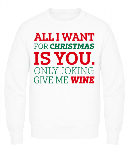 All I Want For Chrsistmas - Men's Sweatshirt AWDis - White - Vorn