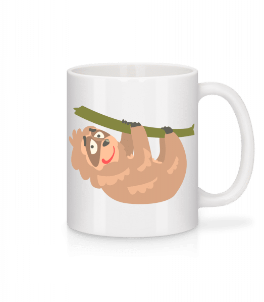 Relaxing Sloth - Mug - White - Vorn