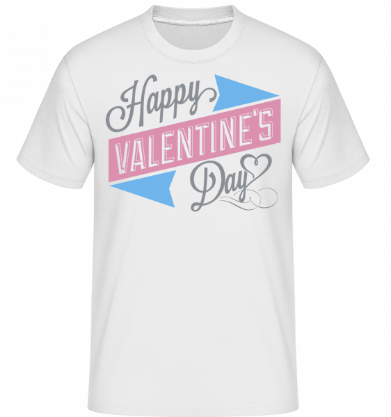 Happy Valentine's Day -  Shirtinator Men's T-Shirt - White - Vorn