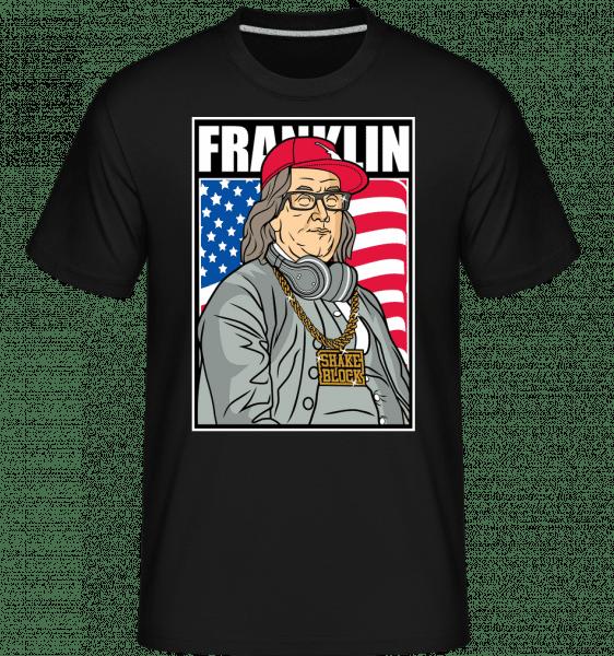 Franklin Rapper -  Shirtinator Men's T-Shirt - Black - Front