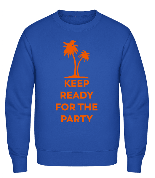 Keep Ready For The Party - Classic Set-In Sweatshirt - Royal Blue - Vorn