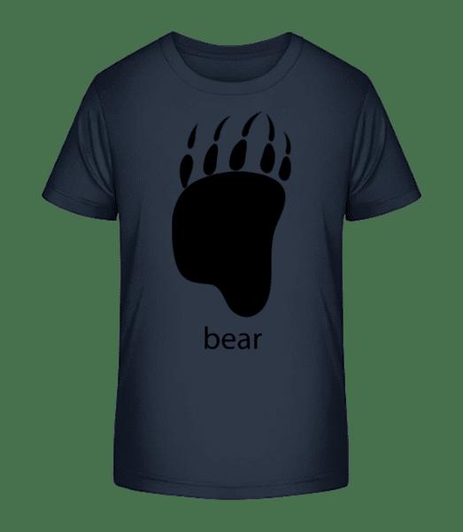 Bear Paw - Kid's Premium Bio T-Shirt - Navy - Vorn