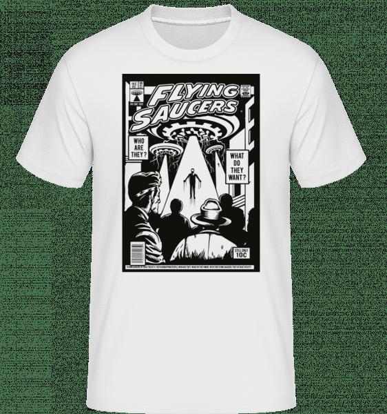 UFO -  Shirtinator tričko pre pánov - Biela - Predné