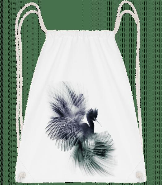 Oiseau Fantastique - Sac à dos Drawstring - Blanc - Devant