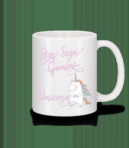Star Sign Unicorn Gemini - Tasse - Weiß - Vorn