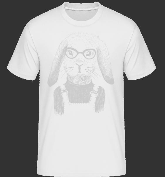 Hipster Rabbit -  Shirtinator Men's T-Shirt - White - Vorn