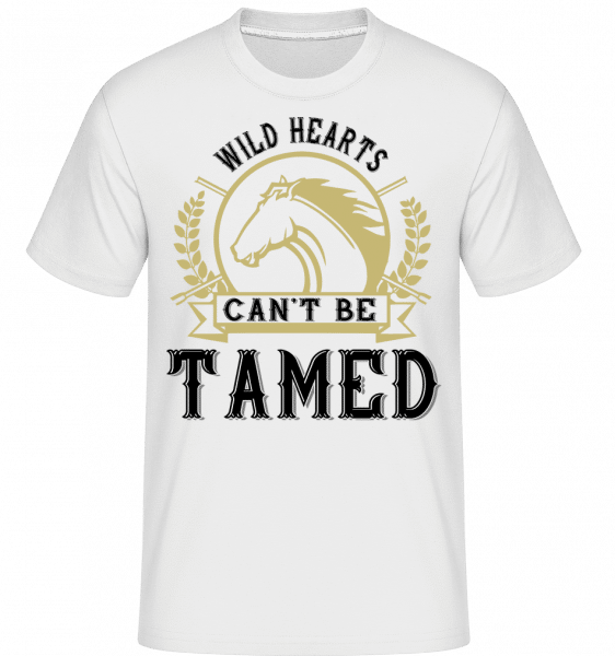 Wild Hearts Can't Be Tamed -  Shirtinator Men's T-Shirt - White - Vorn