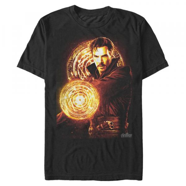 Strange Fire Doctor Strange - Marvel Avengers Infinity War - Men's T-Shirt - Black - Front