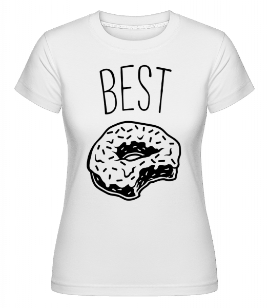 Best Donut -  Shirtinator Women's T-Shirt - White - Vorn