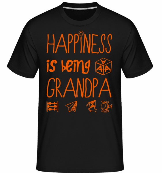 Happiness Is Beeing Grandpa -  Shirtinator Men's T-Shirt - Black - Vorn