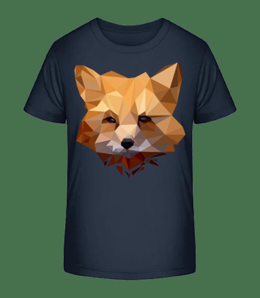 Polygon Fox - Kid's Premium Bio T-Shirt - Navy - Vorn