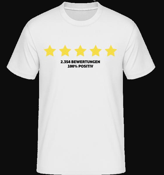 100 Prozent Positive Bewertung - Shirtinator Männer T-Shirt - Weiß - Vorn
