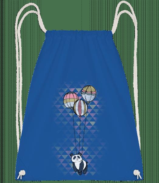 Flying Panda - Drawstring batoh so šnúrkami - Kráľovská modrá - Predné