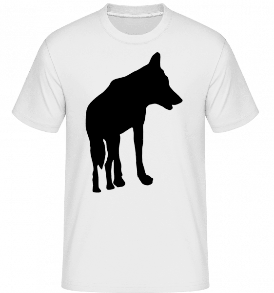 Silhouette Wolf - Shirtinator Männer T-Shirt - Weiß - Vorn