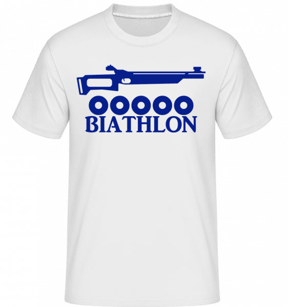 Biathlon Icon Blue -  Shirtinator Men's T-Shirt - White - Vorn