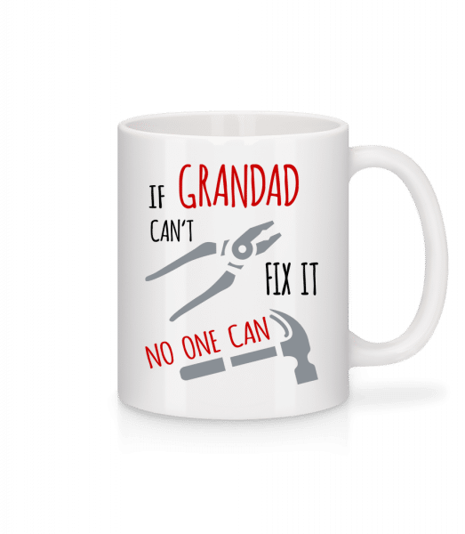 If Grandad Can't Fix It - Mug - White - Vorn
