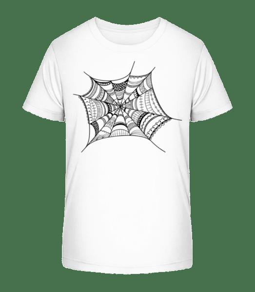 Spider Web - Kid's Premium Bio T-Shirt - White - Vorn